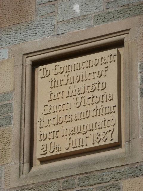 Lerwick: Town Hall clock plaque