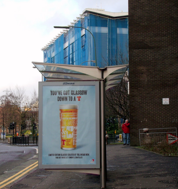 A Glasgow bus shelter