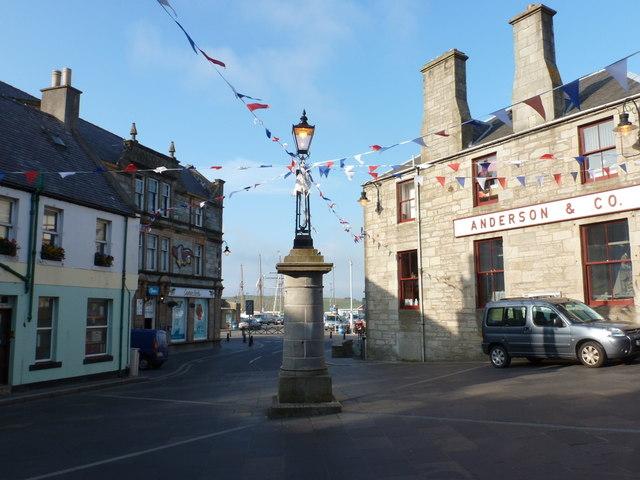 Lerwick: the market cross on a sunny evening