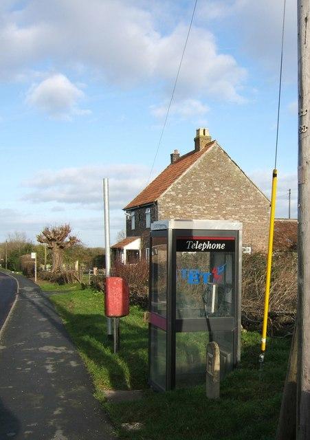 Telephone box on Bagstone Road