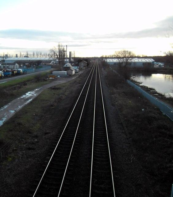 Railway line at Sherburn in Elmet.
