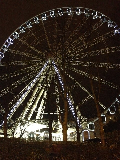 Wheel of York, at night