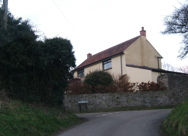 House at road junction