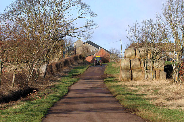 The minor road to Shidlaw Farm