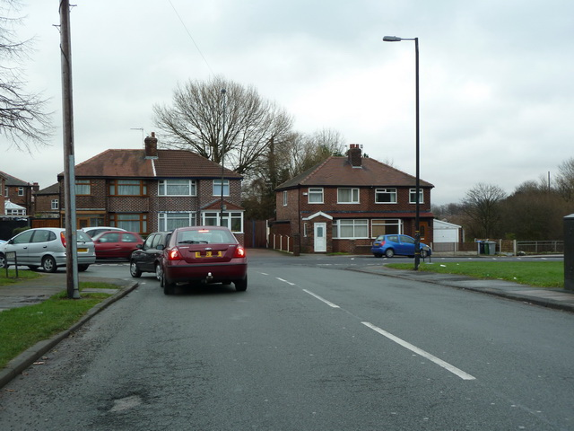Junction of Broadway and Barton Road, Davyhulme, Manchester