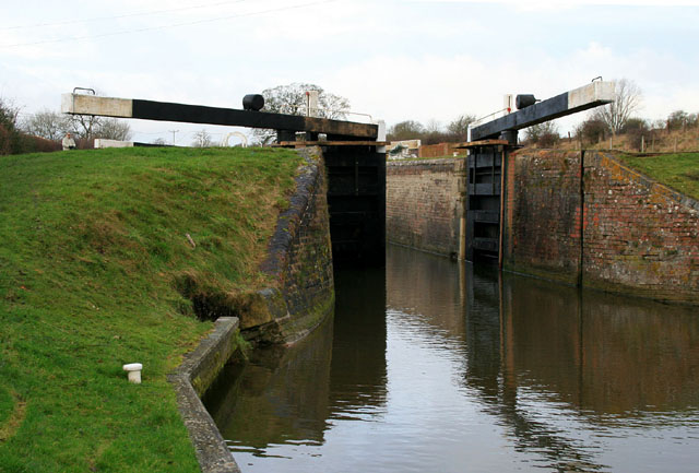 Lock on the Kennet & Avon Canal