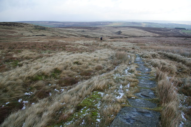 The Pennine Way on Dick Delf Hill