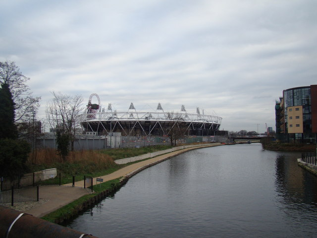 View of the Olympic Stadium from White Post Lane