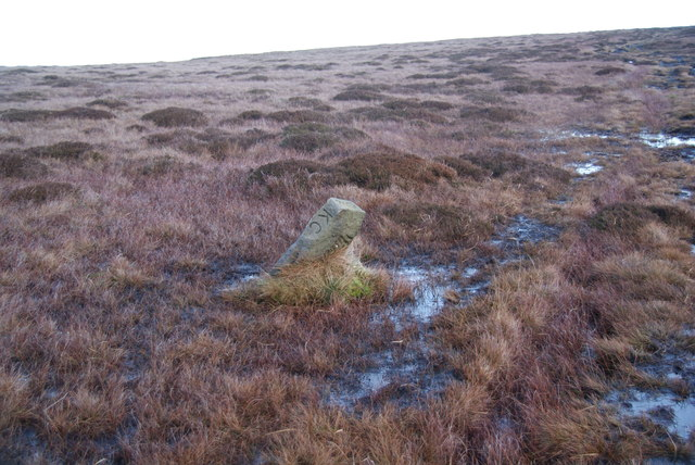 Boundary stone on Dick Delf Hill