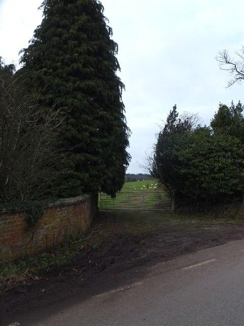 Entrance gateway to Hillersdon House
