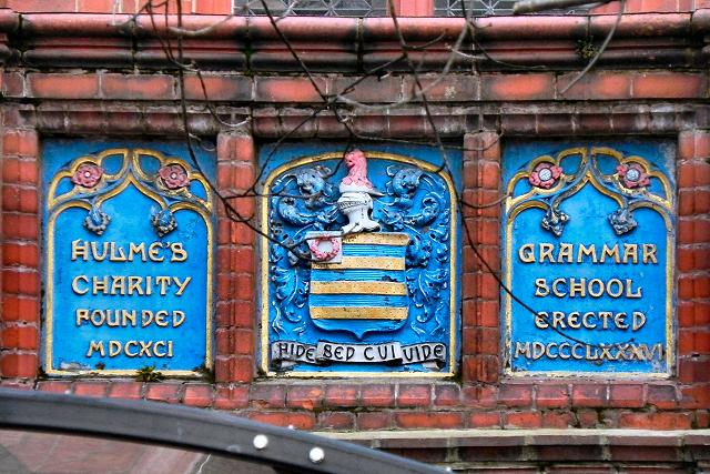 William Hulme's Grammar School (moto and datestones)