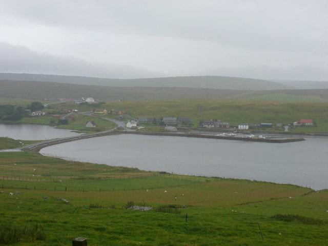 Vidlin: view towards the inner harbour