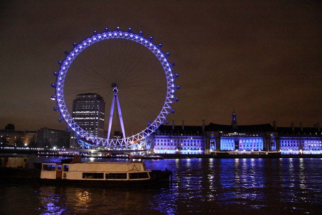 The London Eye from the Victoria Embankment