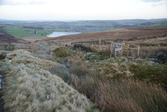 Path junction on Bond Clough Hill