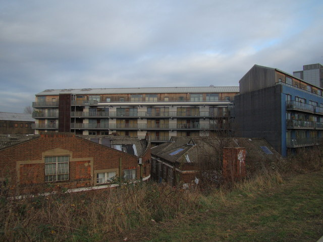 Flats looking rather sorry for themselves by the Greenway