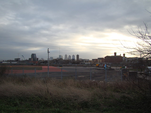 View of Canary Wharf from the Greenway #2