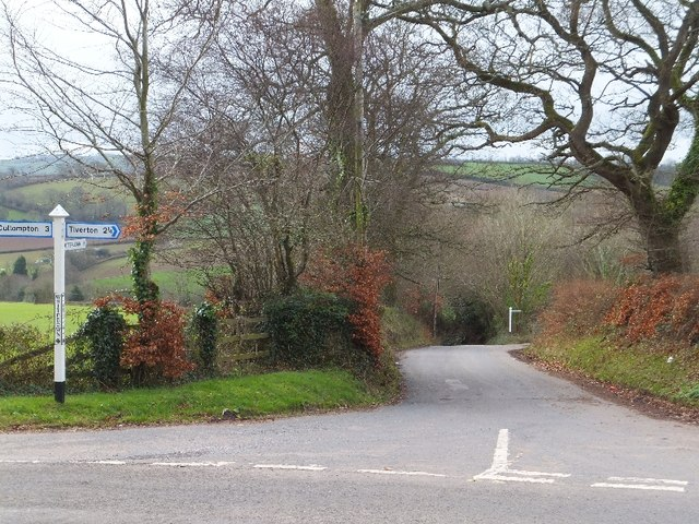 White Down Cross; the way to Butterleigh