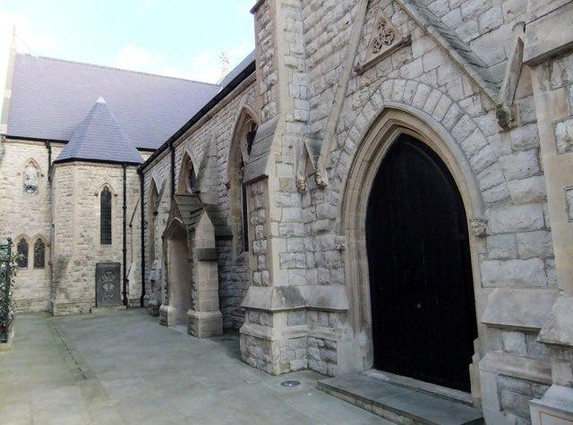 Side door and windows, St Yeghiche Church, Cranley Gardens SW7