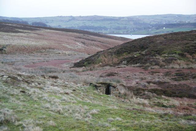 Grouse butt on Haworth Moor
