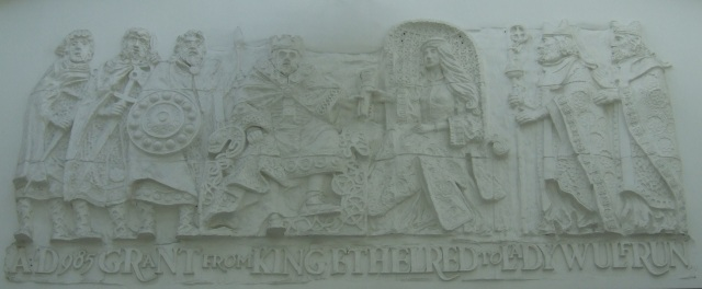 Lady Wulfrun mural - Wulfrun Centre