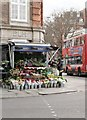 TQ2678 : Flower stall, Old Church Street SW3 by R Sones