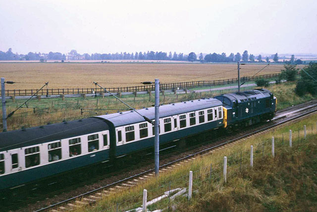 Down train north of Chelmsford, 1972