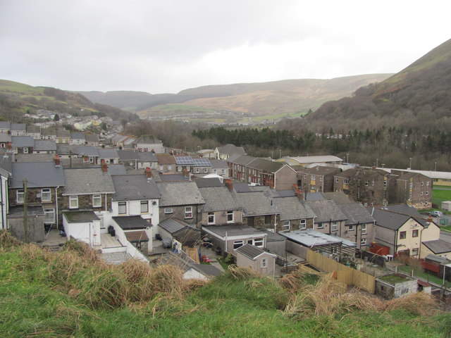 View over Ogmore Vale