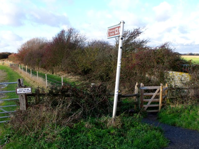 Public footpath to Pevensey Castle