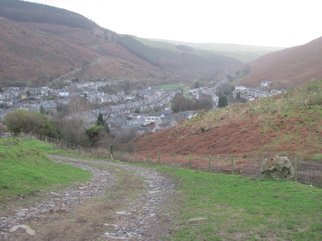 View south over Ogmore Vale