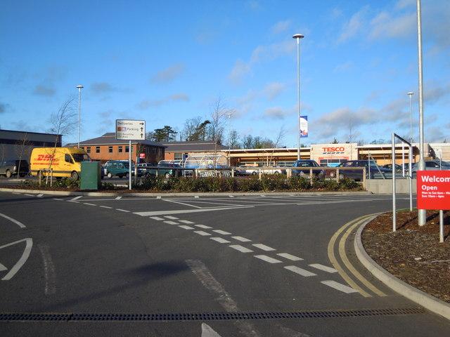 Tesco Supermarket in industrial estate in Southam