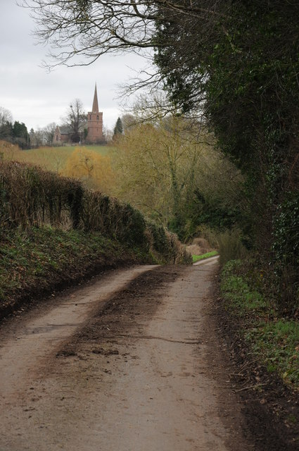 Lane approaching King's Caple