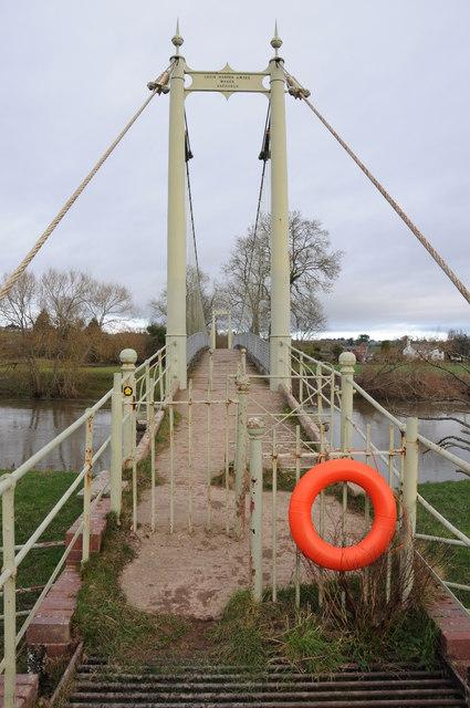 Suspension footbridge, Sellack