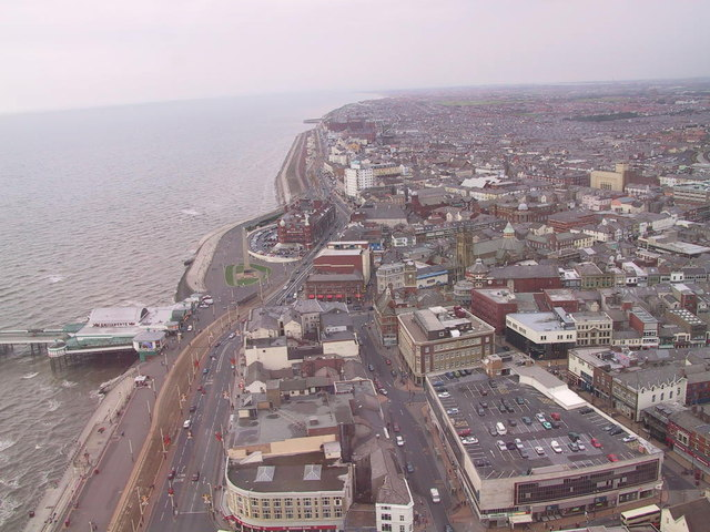 Blackpool North from the top of Blackpool Tower