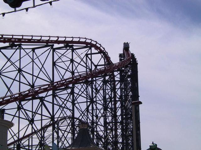 Top of Rollercoaster Blackpool Pleasure Beach
