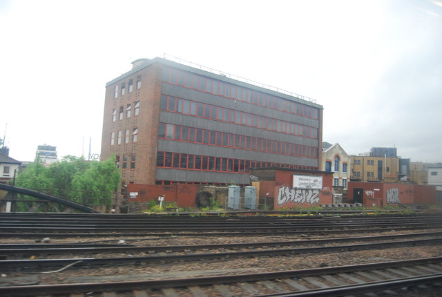 Offices by the railway line