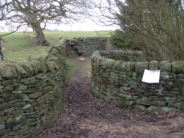 Obstructed bridleway