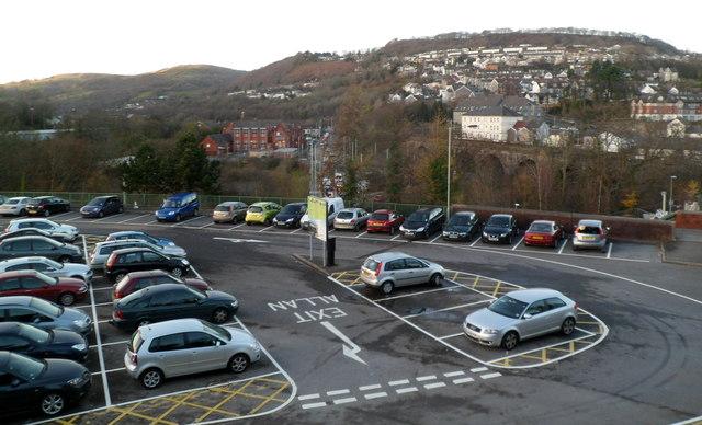 Sardis Road car park, Pontypridd