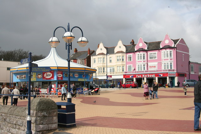 Barry Island seafront March 2008 Amusement Arcades Gavin & Stacey