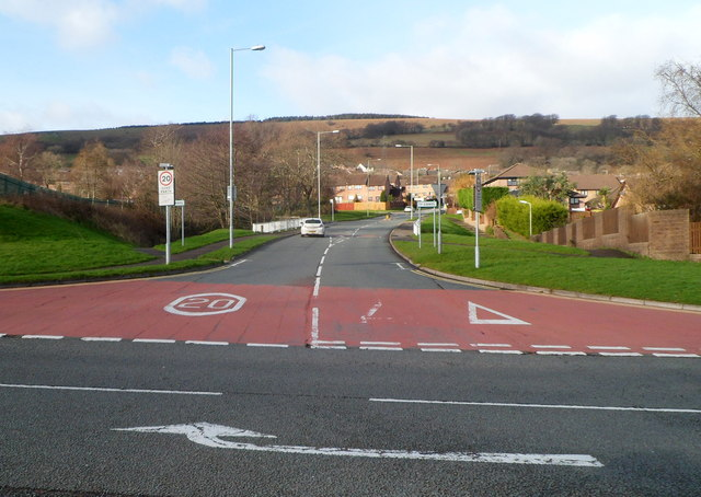 SW end of Ty Canol Way, Cwmbran