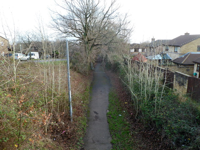 Footpath along route of former industrial tramway, Cwmbran