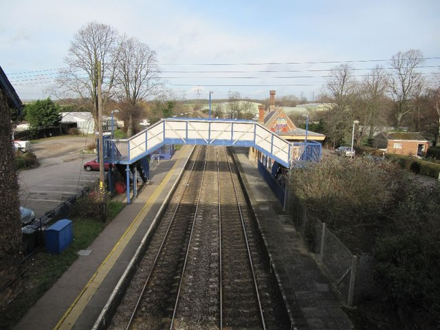 Footbridge at the station