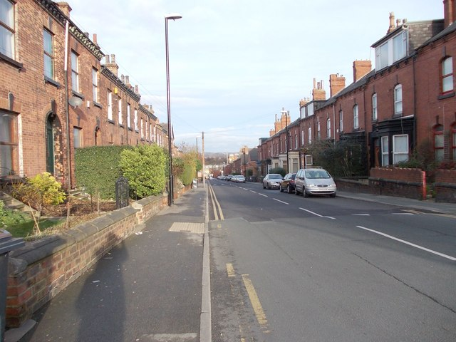 Wesley Road - looking down from Church Road