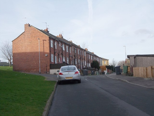 Back Elsworth Street - looking towards  Abbott Road