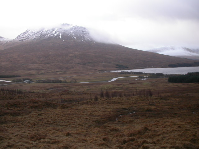 Rough ground looking towards Loch Tulla