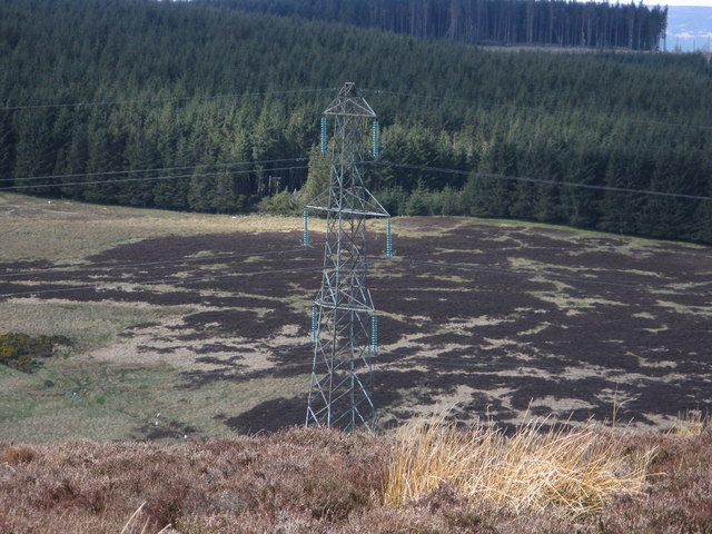 H.V. pylon on Meikle Carewe