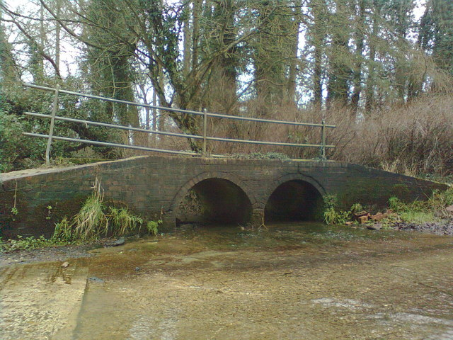 The footbridge at Traitor's Ford