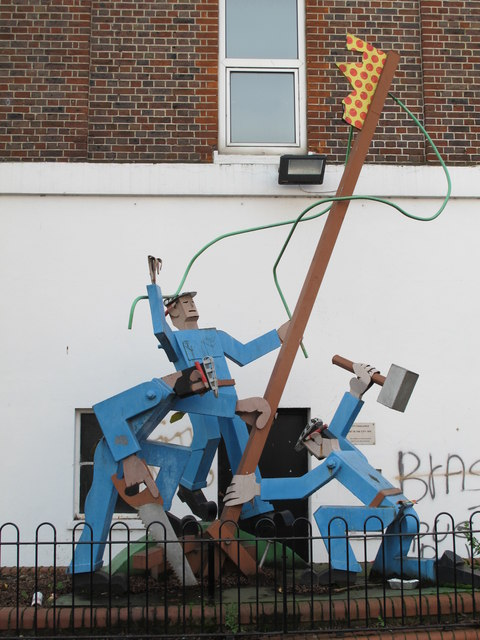 """""""The Workers"""", Rucklidge Avenue / Park Parade, NW10"""
