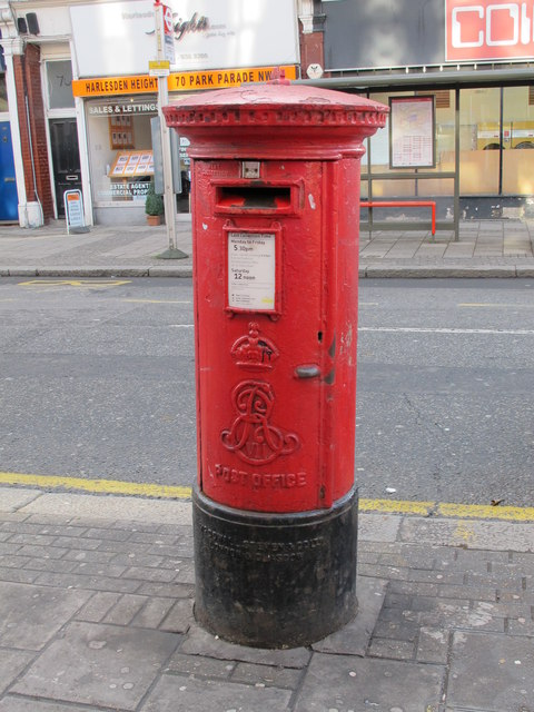Edward VII postbox, Park Parade, NW10