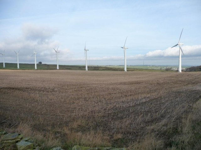 The back row, Royd Moor Wind Farm