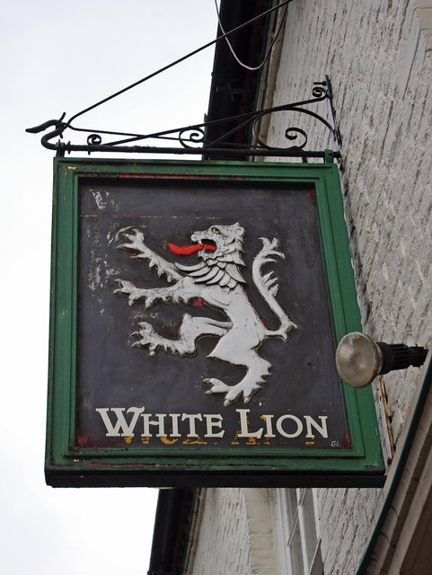 White Lion (3) - sign, 1 High Street, Wem